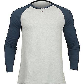 Quiksilver Mens Henley Long Sleeve Shirt - Moonlit Ocean Blue