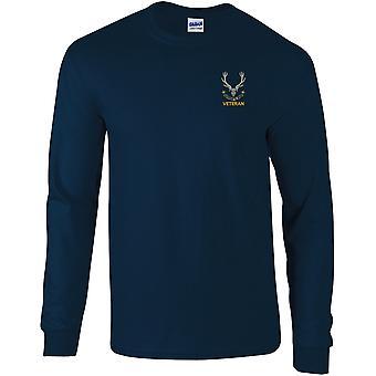 Seaforth Highlanders Veteran - Camiseta de manga larga bordada con licencia del Ejército Británico