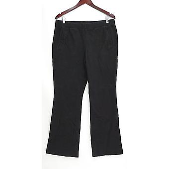 Denim & Co. Women's Pants Active French Terry Lightly Black A309549