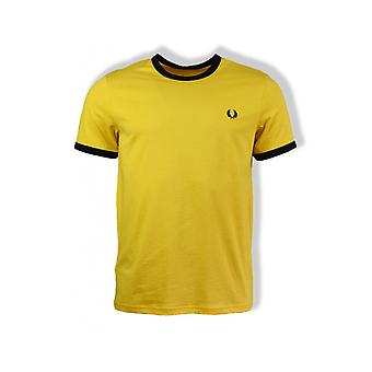 Fred Perry Ringer Short-Sleeved T-Shirt (Sunglow)