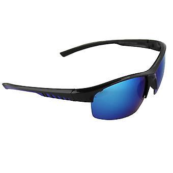 Sonnenbrille Sport Rechteck polarisierendes Glas schwarz blau FREE BrillenkokerS330_3