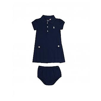 Polo Ralph Lauren Childrenswear Nautical Pleated Dress With Buttons