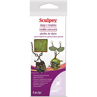 Sculpey Design It Templates-Jewelry Shapes AS2137