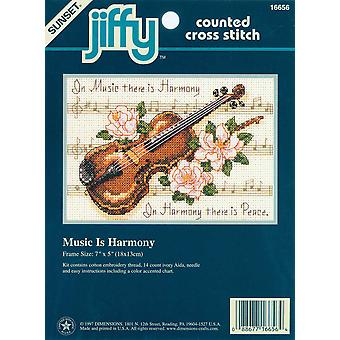 Jiffy Music Is Harmony Mini Counted Cross Stitch Kit 7