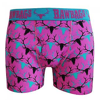 Bawbags Stag Boxer Shorts - Pink