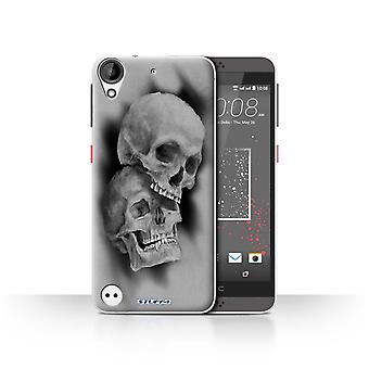 STUFF4 Case/Cover for HTC Desire 530/Mist/Fog/Skull Art Sketch