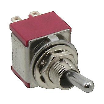 Toggle switch 1-pole latching with center position, 1 x, 1 x groping, on-off-(on)