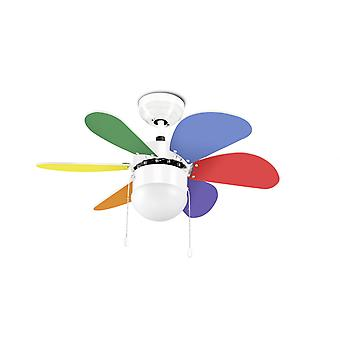 "LEDS-C4 Design Ceiling Fan Boracay White 76.2 cm / 30"" with lighting"