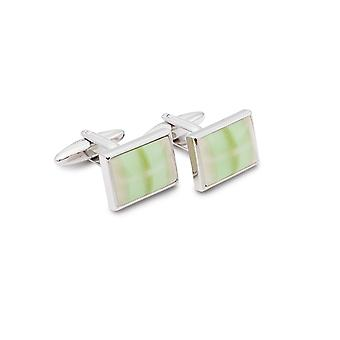 Frédéric Thomass cufflinks cat's eye square green stainless steel