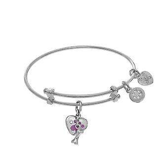 Paw Print And Bone Charms Adjustable Bangle Girls Bracelet