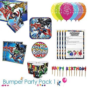 Justice League Party Tableware Bumper Pack 1