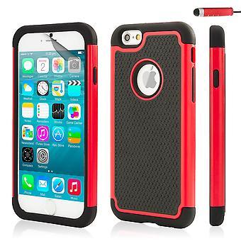 32 caso a prueba de choques para el Apple iPhone 6 6S - rojo
