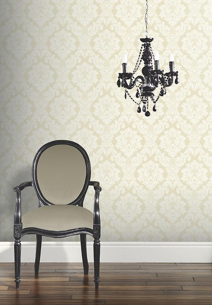Damask Arthouse Da Vinci Traditional Pattern Cream Heavyweight Wallpaper