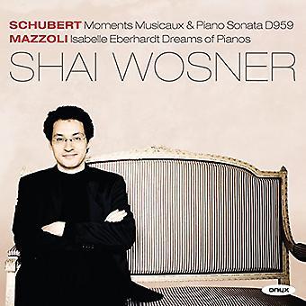 Schubert / Mazzoli / Wosner - Klaver Sonata D959 øjeblikke Musicaux D780 [CD] USA import