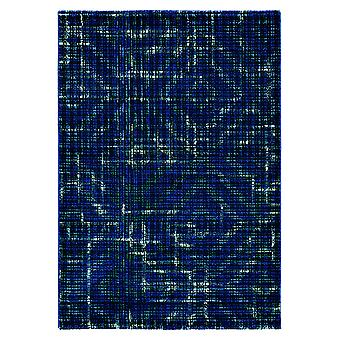 Navy Blue Abstract Designer Rug - Ted Baker 58508
