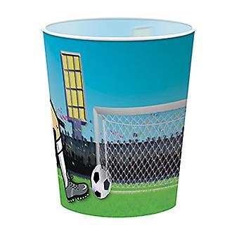 Football cups plastic 4 PCs with holo effect football party birthday soccer