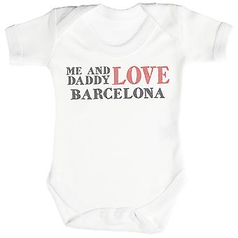 Me & Daddy Text Love Barcelona Baby Bodysuit / Babygrow
