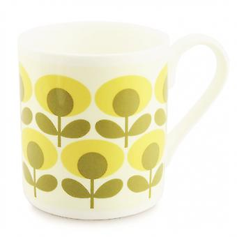 Orla Kiely Flower Oval Yellow Mug