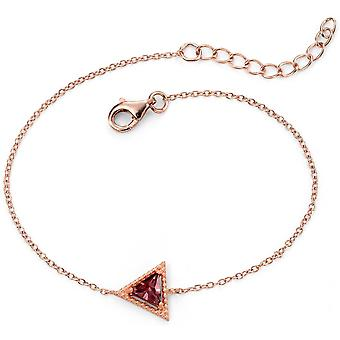 925 Silber Rose und weiß vergoldet Armband