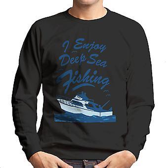 I Enjoy Deep Sea Fishing Men's Sweatshirt