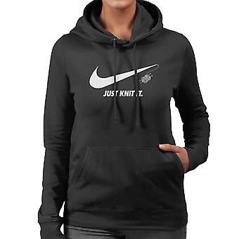 Knitting Just Knit It Nike Logo Women's Hooded Sweatshirt