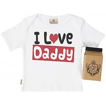 Spoilt Rotten I Love Daddy Toddler T-Shirt 100% Organic Cotton