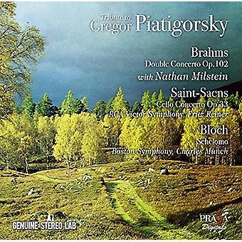 Gregor Piatigorsky - hyldest til Gregor Piatigorsky: værker af Brahms [CD] USA import