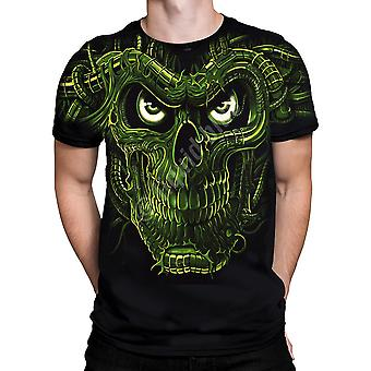 Terminator Skull Glow In The Darksleeve Tshirt