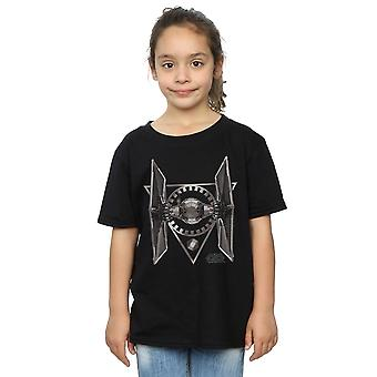 Star Wars Girls The Last Jedi TIE Fighter T-Shirt