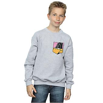 Looney Tunes jongens Daffy Duck Face Faux Pocket Sweatshirt