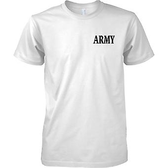 ARMY Slogan - Military Word - Mens Chest Design T-Shirt