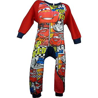 Boys Disney Cars Lightning McQueen Fleece Sleepwalker Sleepsuit with Socks in Box