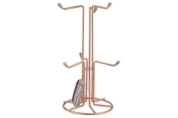 COPPER MUGTREE FOR A WARM STYLISH SHINE IN YOUR KITCHEN HOLDS 6 CUPS