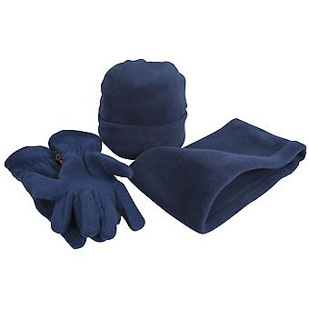 Result Unisex Active Fleece Anti-Pill Winter Hat, Gloves & Neckwarmer Set