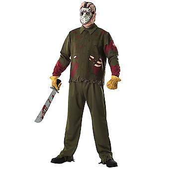 Jason Voorhees Deluxe Horror Friday The 13th Men Costume