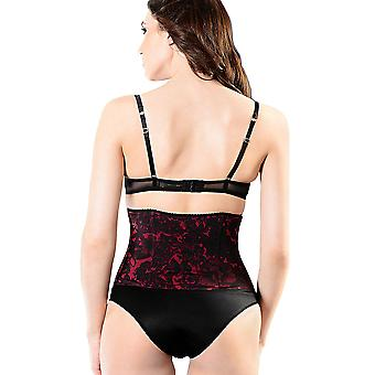 Esbelt ES3100 Women's Wine Red Floral Firm/Medium Control Slimming Shaping Girdle