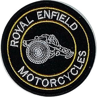 Royal Enfield Motorcycles Cannon round sew-on embroidered patch (yy)