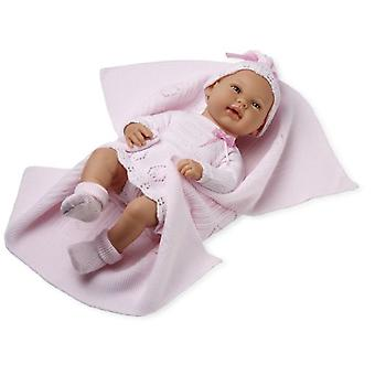Arias Real Baby With Blanket Pink 42 Cm