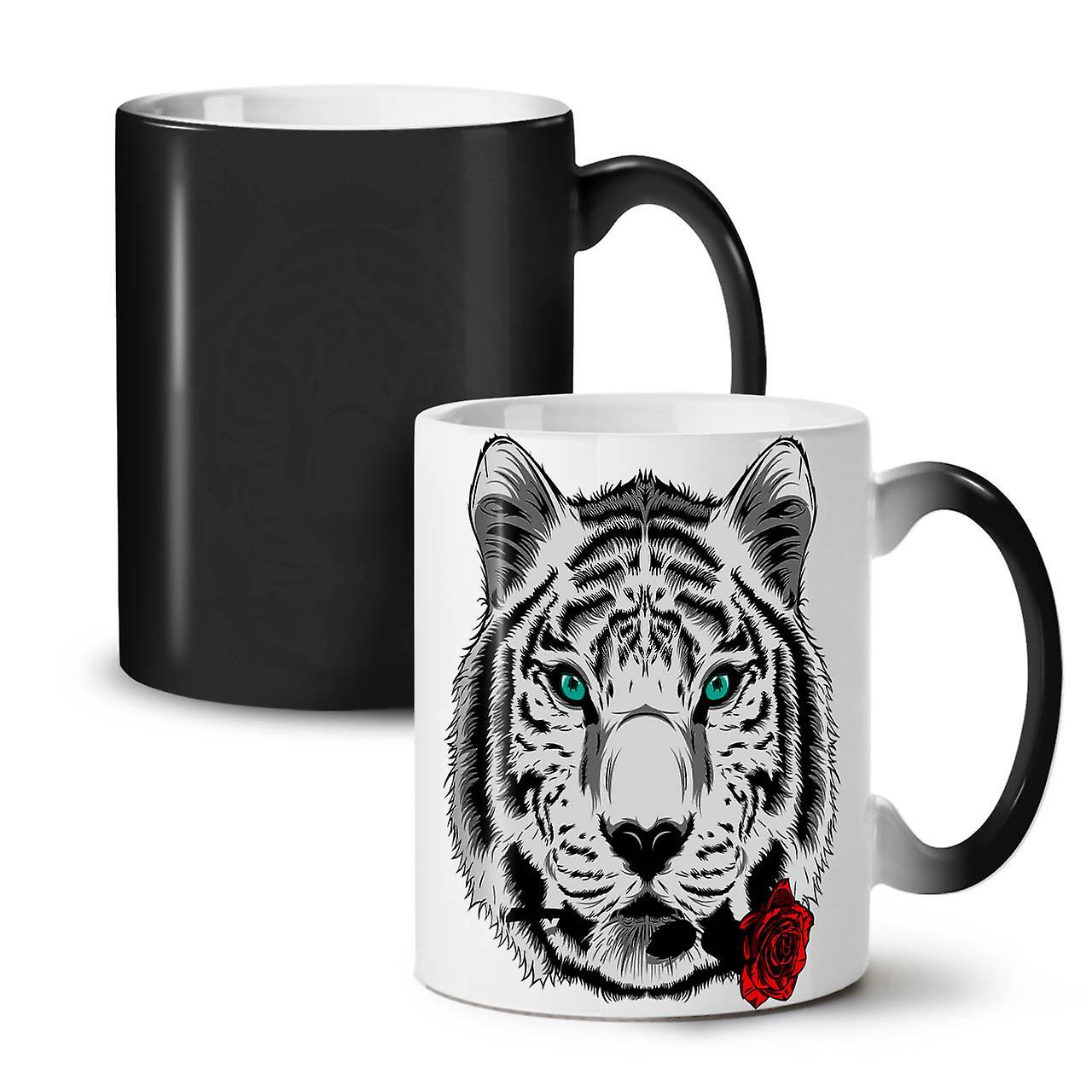 Thé Tiger Coloris Céramique Nouveau Changeant 11 Tasse Noir OzWellcoda Romantique Animal Café erQECdBoWx