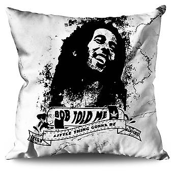 Marley Rasta Celebrity Linen Cushion Marley Rasta Celebrity | Wellcoda