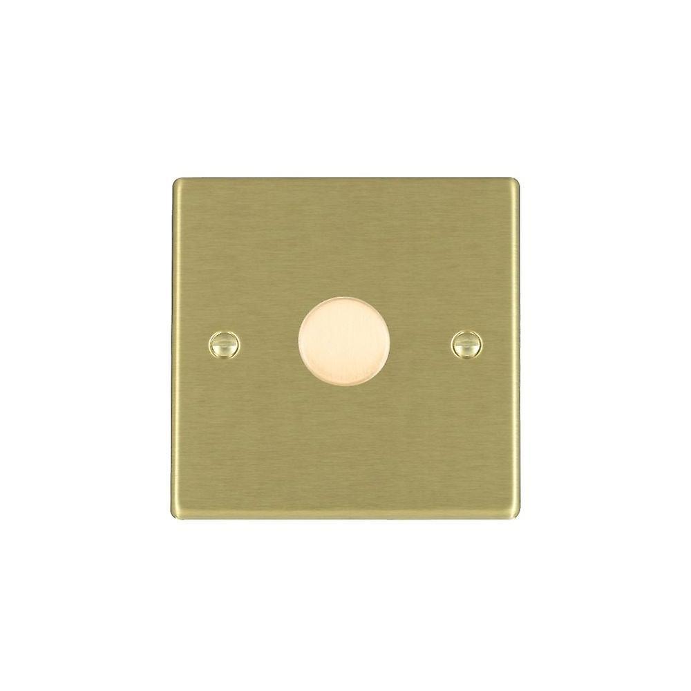 Hamilton Litestat Hartland Satin Brass 1g 600W 2 Way Dimmer SB