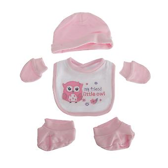 Nuresery Time Baby Girls 4 Piece Owl Design Gift Set