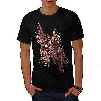 Wilde Bären Kopf Tier Männer BlackT-t-Shirt | Wellcoda