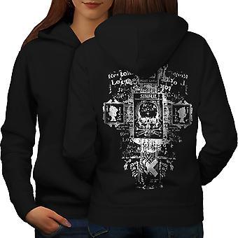 Symbole Goth kobiety BlackHoodie tyłu | Wellcoda