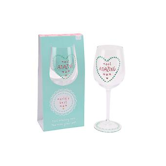 CGB Giftware Worlds Best Mum Most Amazing Mum Wine Glass