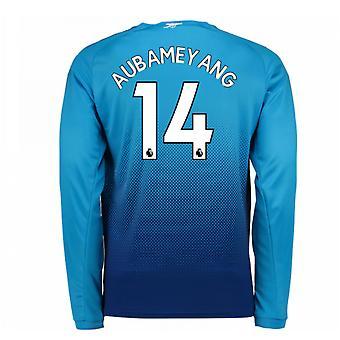 2017-2018 Arsenal Away Long Sleeve Shirt (Aubameyang 14)