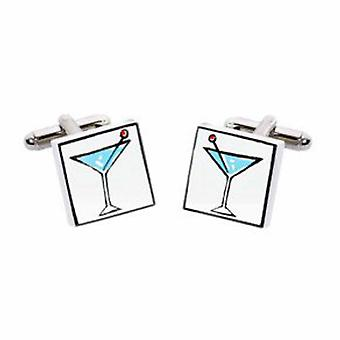 Martini Cufflinks by Sonia Spencer, in Presentation Gift Box. Cocktail glass