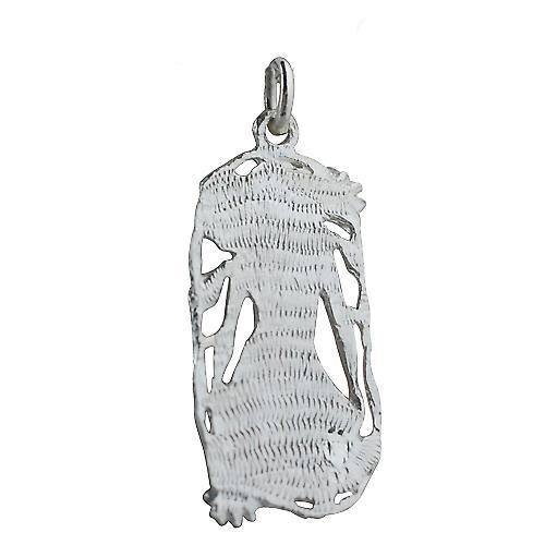 Silver 33x17mm Scorpio Zodiac Pendant