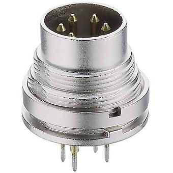 DIN connector Plug, vertical mount Number of pins: 3 Silver Lumberg SGR 30 1 pc(s)