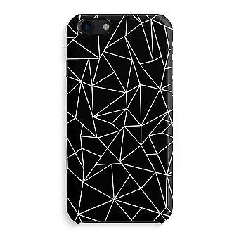 iPhone 7 Full Print Case - Geometric lines white
